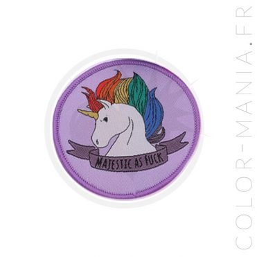 Patch Licorne Majestic As Fuck Lilas | Color-Mania