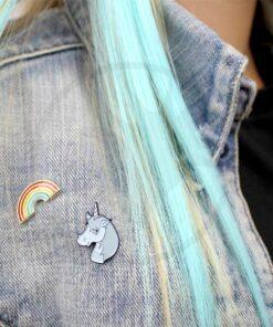 Pin's Licorne Simpson et Arc-en-Ciel | Color-Mania