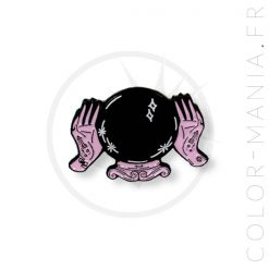 Pin's Boule de Cristal Noir et Rose | Color-Mania