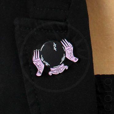 Pin's Boule de Cristal Noir et Rose | Color-Mania