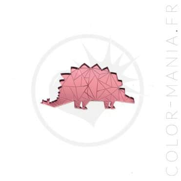 Pin's Dinosaure Stégosaure Rose | Color-Mania