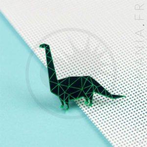 Pin's Dinosaure Diplodocus Vert | Color-Mania
