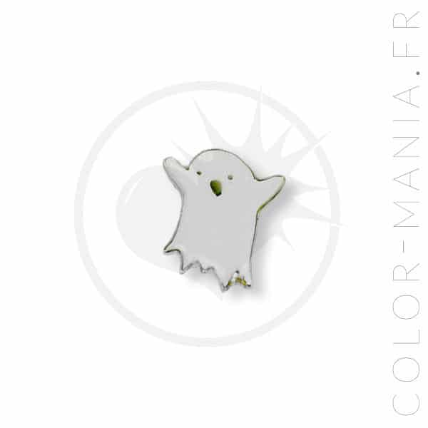 Spilla bianca Little Ghost | Color-Mania