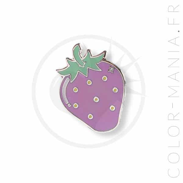 Pin's Fraise Rose Pastel | Color-Mania