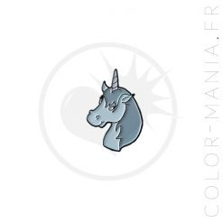 Pin's Licorne Simpson Bleu Pastel | Color-Mania