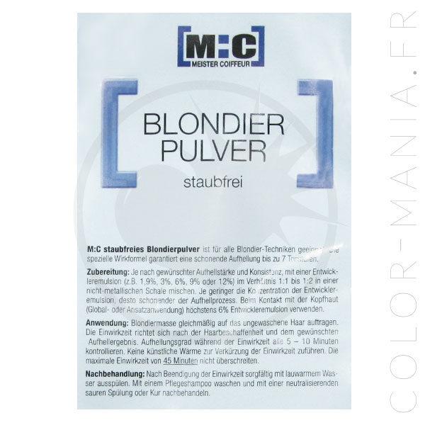 Poudre Décolorante Bleue Professionnelle Sachet 100gr – [M:C] | Color-Mania