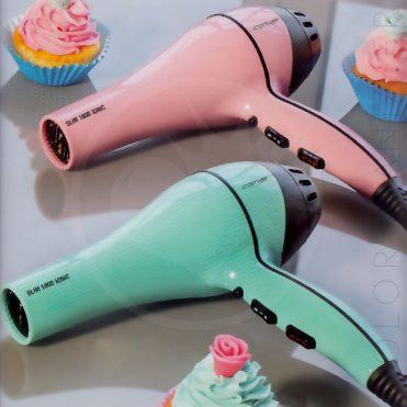 Sèche-Cheveux Professionnel «Slim» Rose Pastel et Vert Menthe | Color-Mania