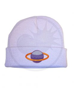Lilla Saturn Purple & Apricot Beanie | Color-Mania