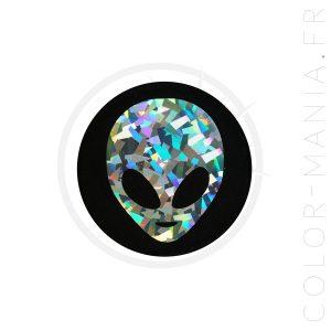 Remendo holográfico estrangeiro preto | Cor-Mania