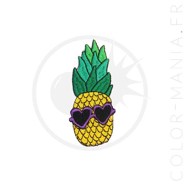 Patch Ananas Lunettes de Soleil | Color-Mania