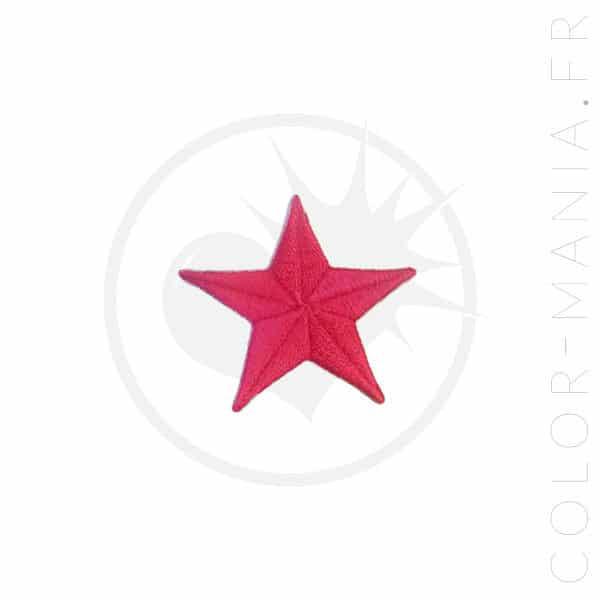 Pequeño parche de estrella rosa fucsia | Color-Mania