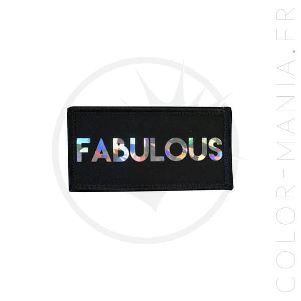 Patch Fabulous Noir Holographique | Color-Mania