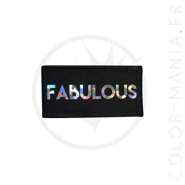 Patch Fabulous Noir Holographique   Color-Mania