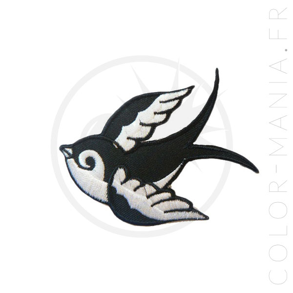Patch Hirondelle Tattoo Old School Droite | Color-Mania
