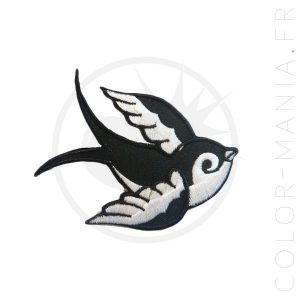 Patch Hirondelle Tattoo Old School Gauche | Color-Mania