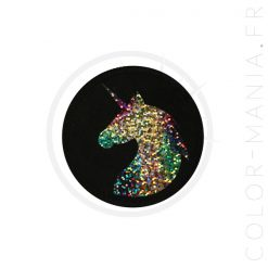 Patch Licorne Holographique Noir | Color-Mania
