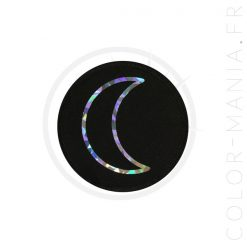 Patch Lune Noir Holographique | Color-Mania