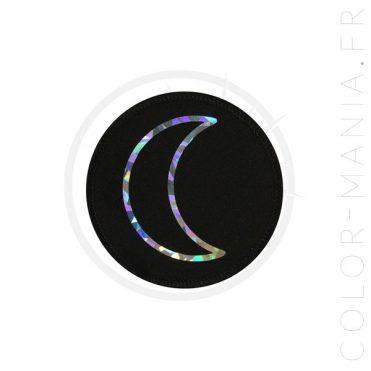 Patch Lune Noir Holographique | Color-Mania