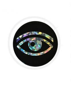 Patch Oeil Holographique Noir | Color-Mania