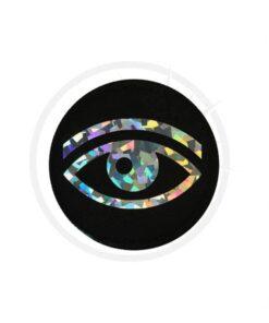 Patch Oeil Holographique Noir | Color-Mania