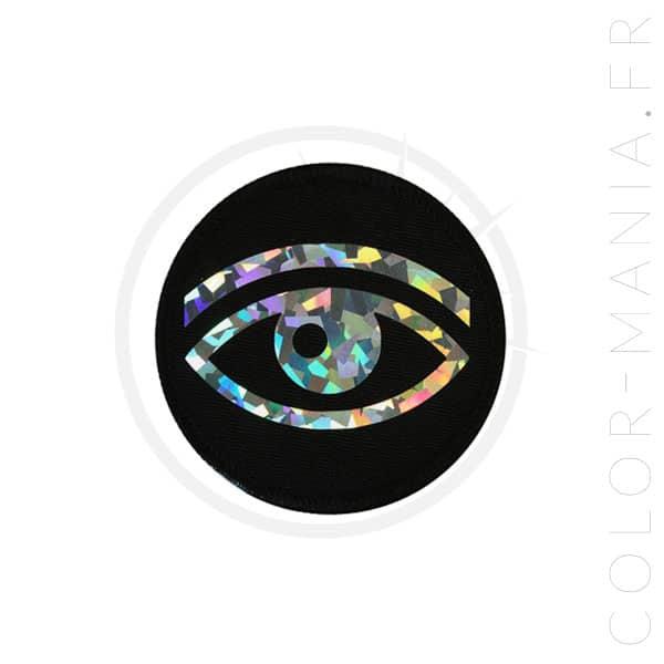 Parche ocular holográfico negro | Color-Mania