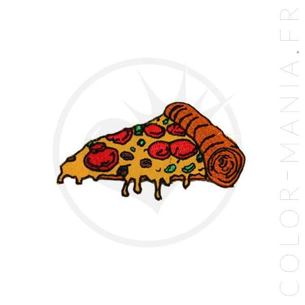 Parche adhesivo de hierro de la pizza | Color-Mania