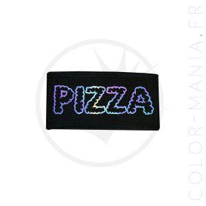 Patch Pizza Noir Holographique | Color-Mania