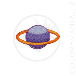 Patch Saturne Violet & Abricot | Color-Mania
