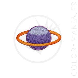 Parche de Saturno púrpura y albaricoque | Color-Mania