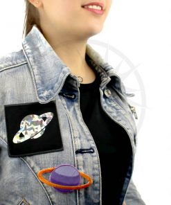 Patch Saturne Violet & Abricot et Holographique | Color-Mania