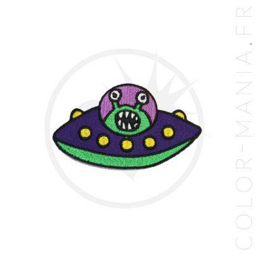 Patch Soucoupe Volante Violet & Vert | Color-Mania