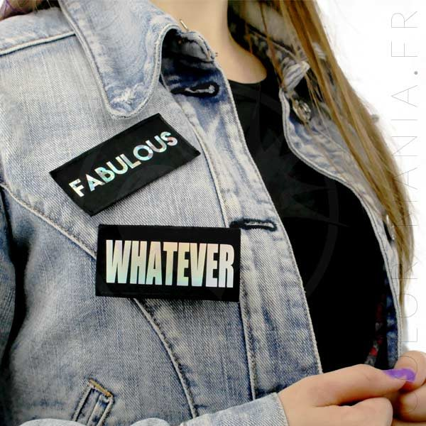 Patch Whatever & Fabulous Noir Holographique