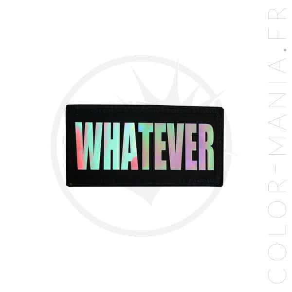 Patch Whatever Noir Holographique | Color-Mania