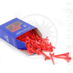 Small Hair Clips Red Clips | Color-Mania