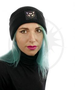 3 Holographic Eyes Black Cat Hat | Color-Mania