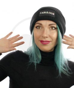Favoloso Holographic Black Beanie | Color-Mania