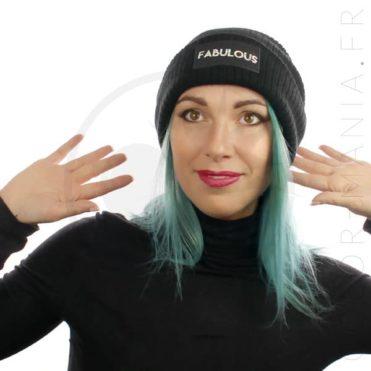 Bonnet Noir Fabulous Holographique   Color-Mania