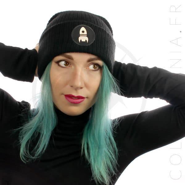 Bonnet Noir Fusée Holographique | Color-Mania