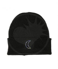 Black Holographic Moon Beanie | Color-Mania