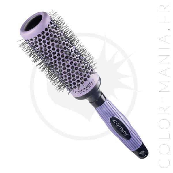 Brosse Céramique Thermo-Chromatique Ronde Violette | Color-Mania