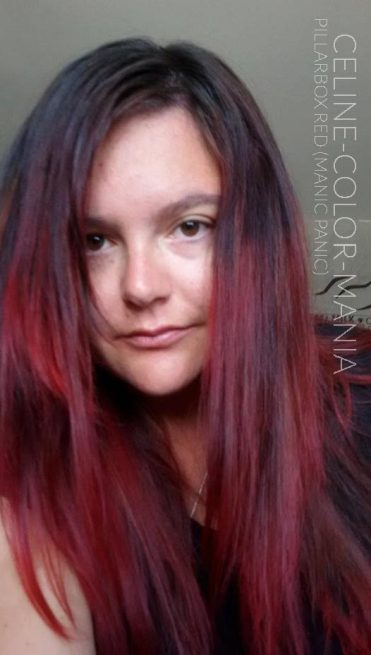 Merci Céline ! Coloration Cheveux Rouge Pillarbox - Manic Panic