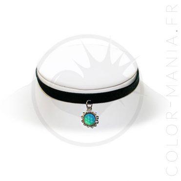 Collier d'Humeur Ras-de-Cou Velours Soleil | Color-Mania