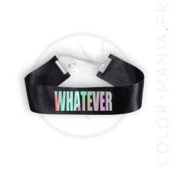 Collier Ras-de-Cou Whatever Noir Holographique | Color-Mania