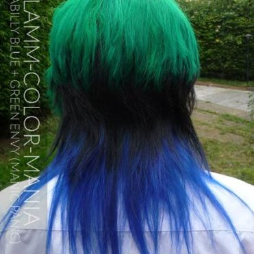 Merci Efflamm ! Coloration Cheveux Bleu Rockabilly Blue et Green Envy - Manic Panic