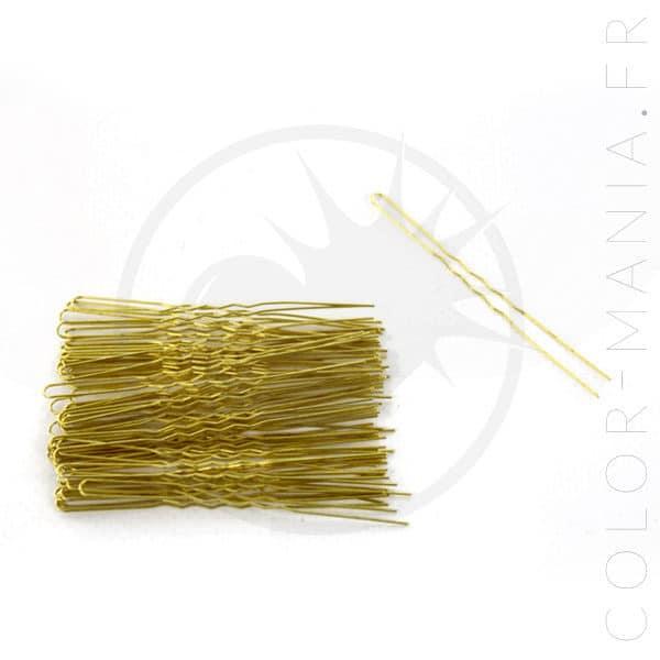 Épingles Cheveux Ondulées Dorées | Color-Mania