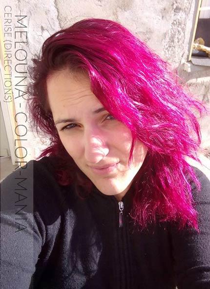 Grazie Melouna! Colore dei capelli rosa ciliegia - Indicazioni