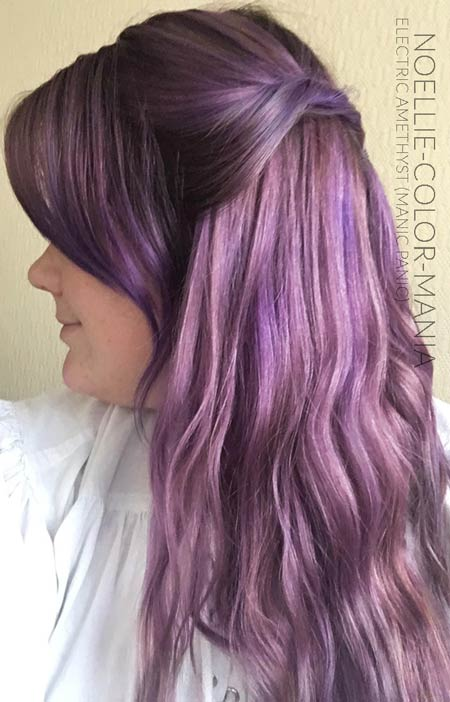 merci noellie coloration cheveux violet electric amethyst manic panic - Coloration Cheveux Violet