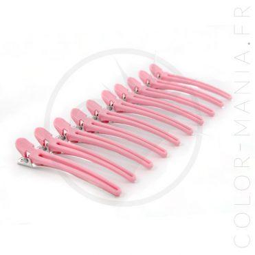 Pinces Cheveux Sépare-Mèches Roses | Color-Mania