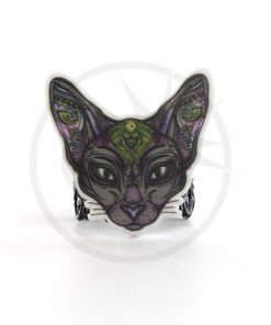 Anello nero Mystic Sphynx Cat | Color-Mania