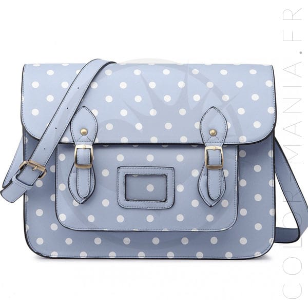Pale Blue Satchel Satchel Bag | Color-Mania